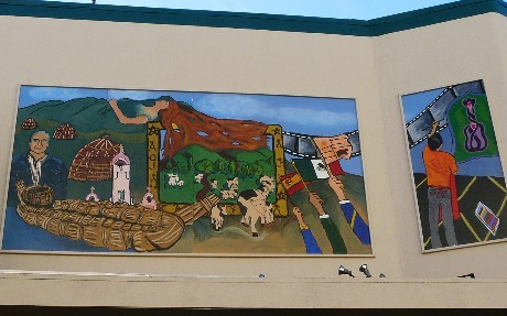San Rafael History Mural Dedication at Youth in Arts Building 9-14-12